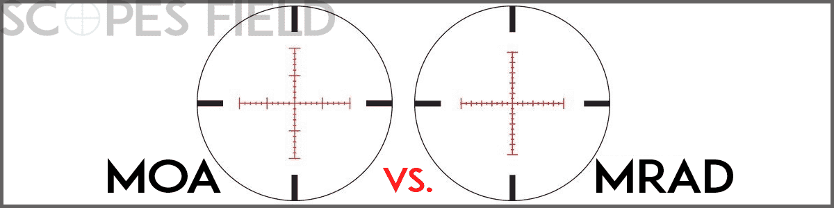 MOA (minute of angle) vs. MRAD (milradian) Scope Adjustment