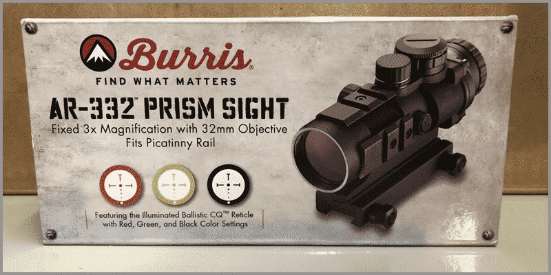 Burris 300208 AR-332 3x32 Prism Sight Package