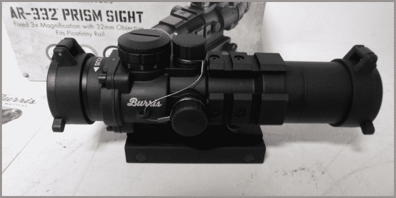 Burris AR 332 Prism Sight turrent caps