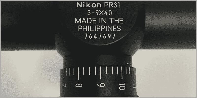 nikon p-223 3-9x40 Turret
