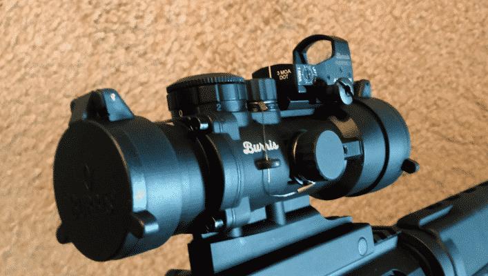 Burris Burstfire 3 on top of AR536